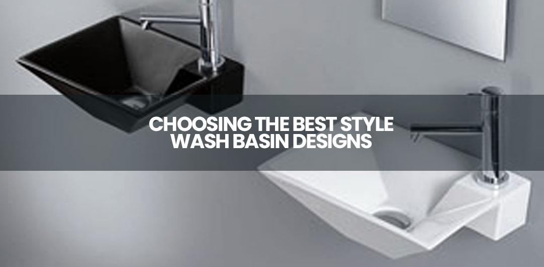stylish wash basins